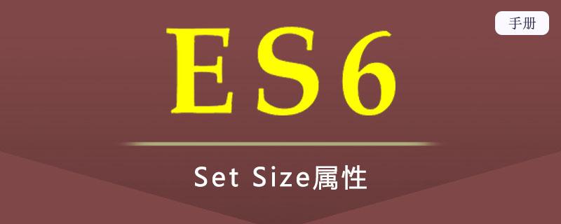 ES 6 Set Size属性