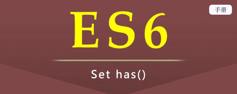 ES 6 Set has()