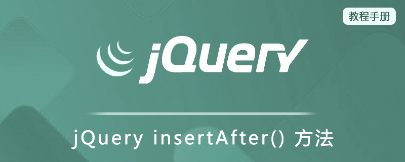 jQuery insertAfter() 方法