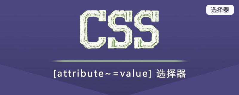 [attribute~=value] 选择器