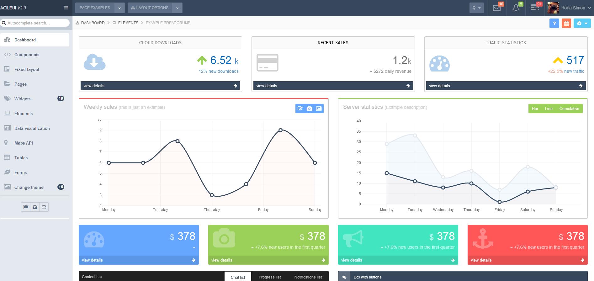 企业响应式bootstrap后台统计数据管理模板