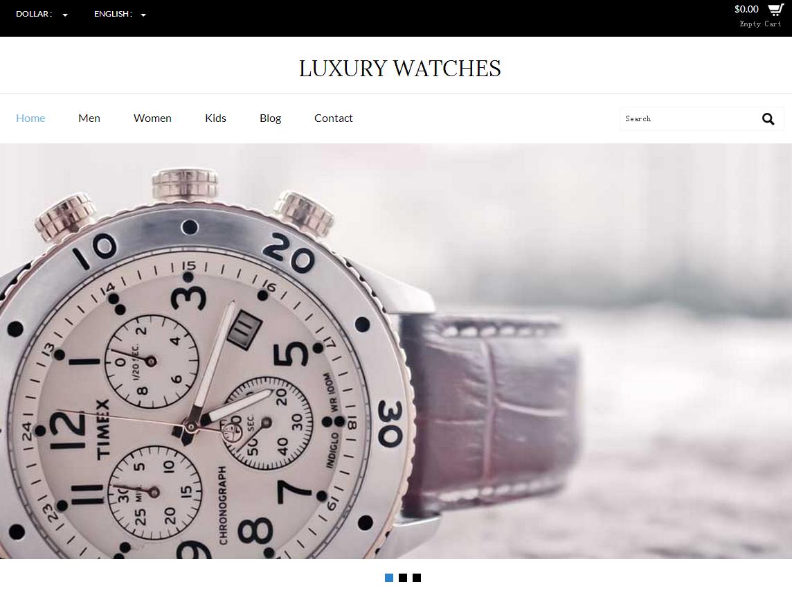 钟表电子商务商城网站企业模板