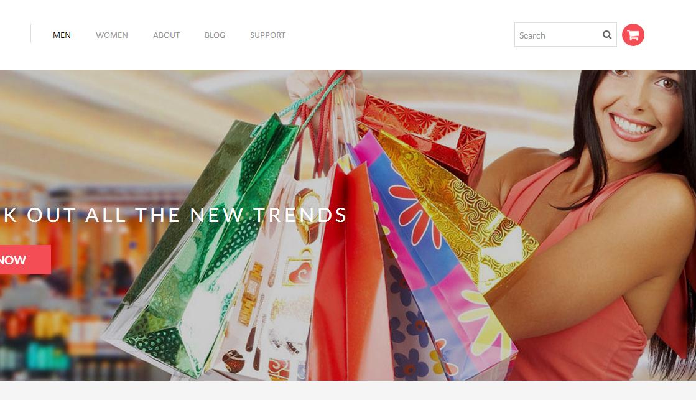 时尚服装购物网上商城整站模板