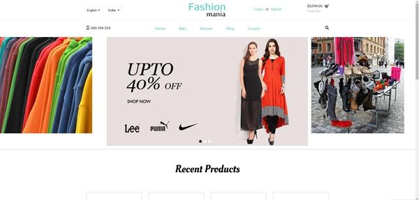 休闲服装电子商务网店企业网站模板