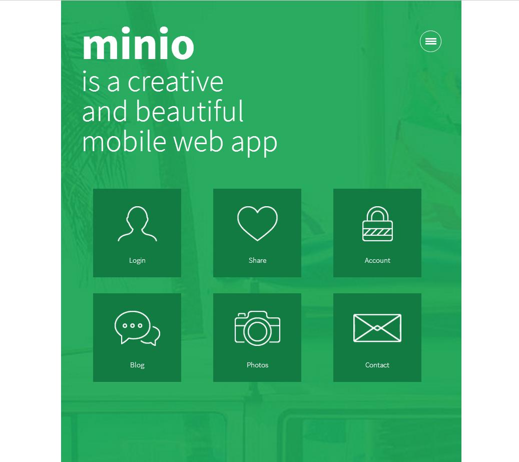 绿色的图片展示wap手机博客网站模板下载