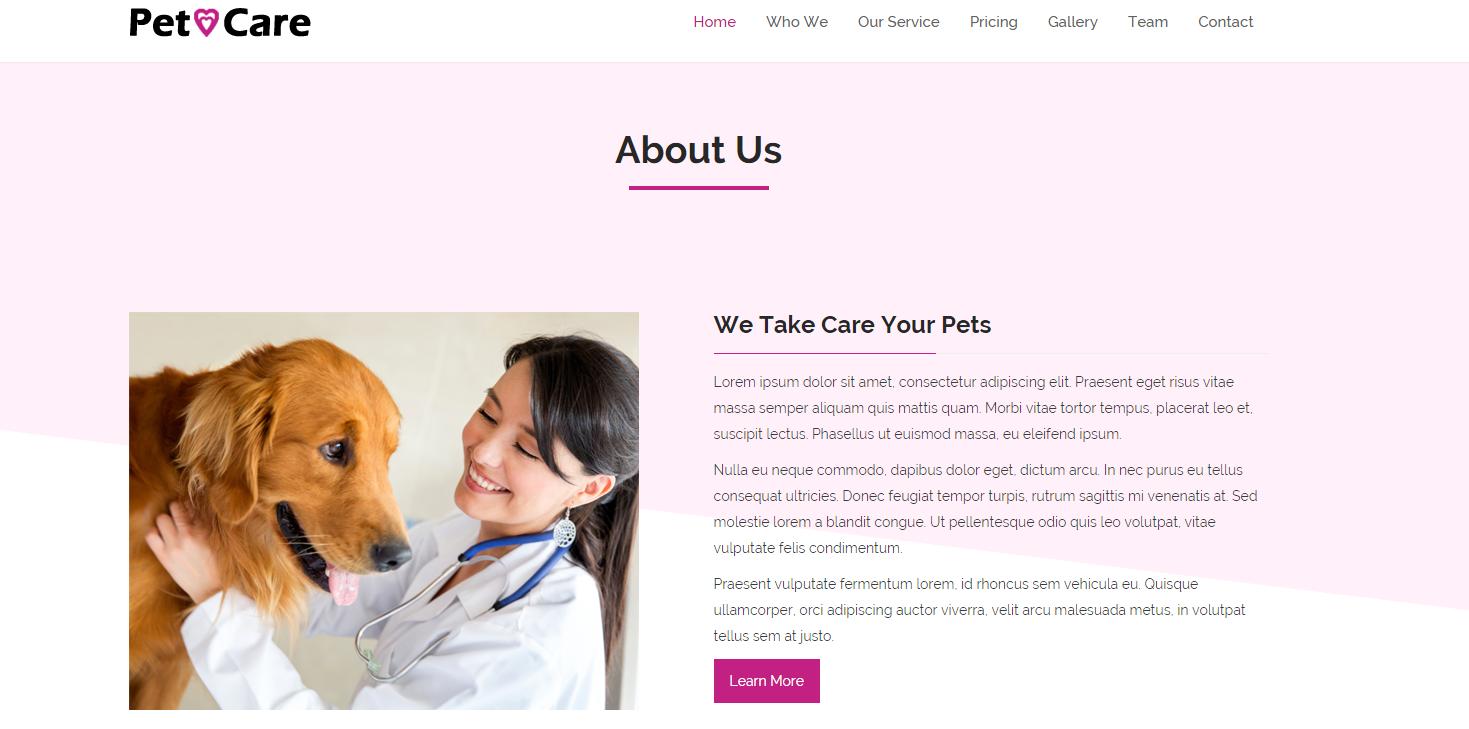 宠物医院加盟店官网模板
