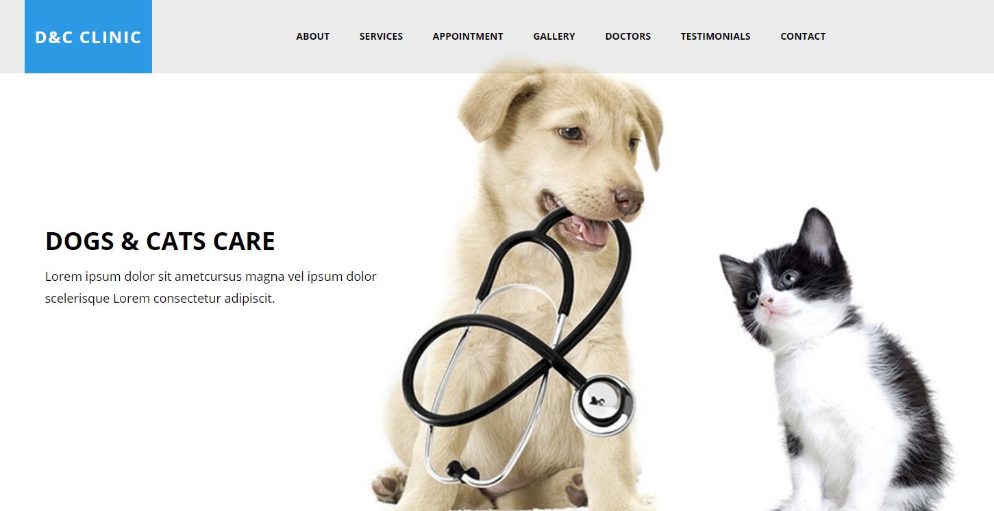 宠物医院HTML5网站模板