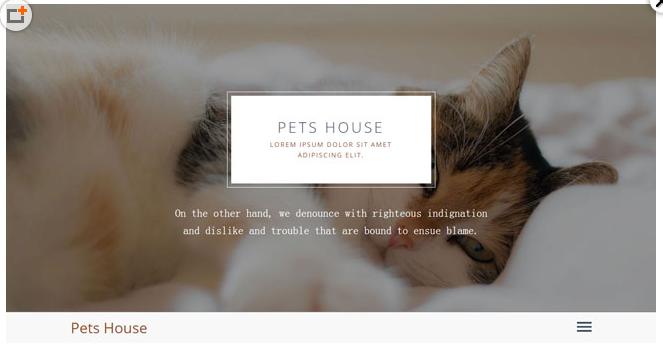 HTML5大气简洁宠物网站模板