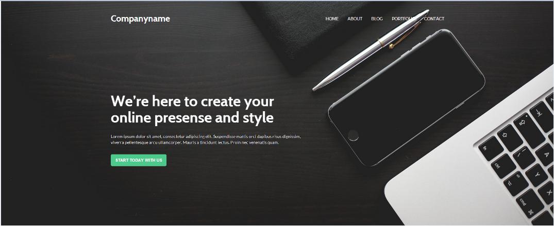 互联网公司bootstrap企业网站模板