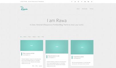 Rawa图片展示响应式网站模板