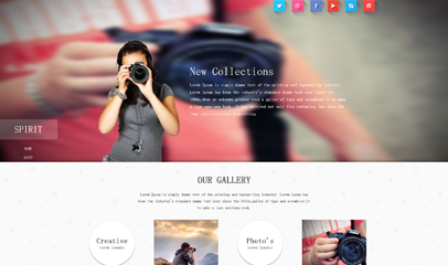 HTML5攝影公司網站模板