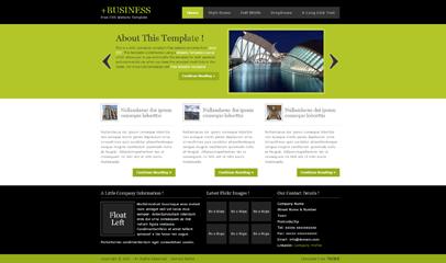綠色幻燈片產品展示網頁模板