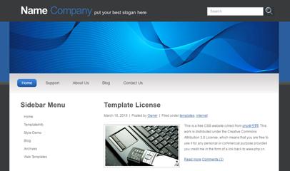 蓝色炫彩商务企业网站模板