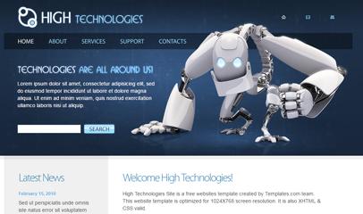 精品大气IT科技企业网站模板