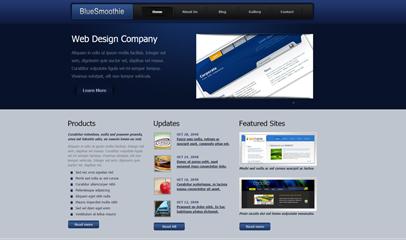 蓝色商务企业网站模板