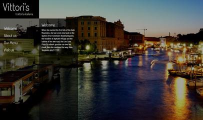 jQuery全屏自适应酒店餐厅网站模板