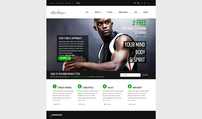 健身运动俱乐部网站模板