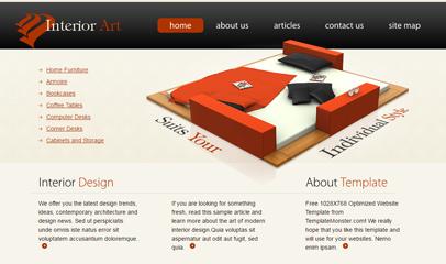 室內裝飾風格設計網站模板