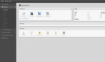 黑色企业OA办公管理系统模板