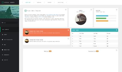 Visual Admin后台UI界面模板