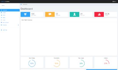 Lumino免费Bootstrap后台管理模板