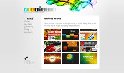 網頁設計工作室網站模板