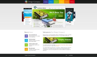 大圖幻燈HTML5網頁模板