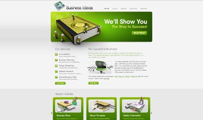 绿色大气企业网站模板