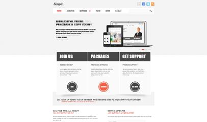 简洁大气灰色企业网站模板