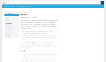 全屏自适应DocWeb说明文档html5模板