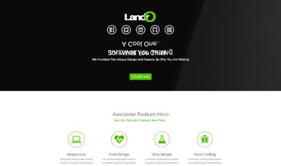 綠色Responsive引導頁html5模板