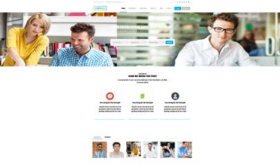 css3大气简洁教育传媒公司企业网站模板