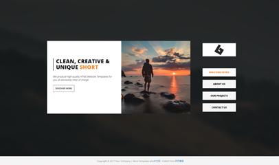简单个人web介绍js切换网站模板