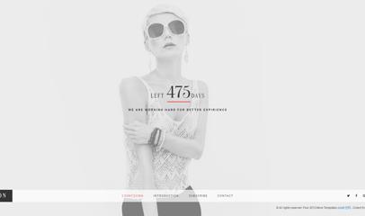 黑色时尚仿flash个人主页网站模板