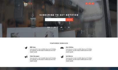 簡潔郵件訂閱responsive網站模板下載