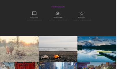 黑色宽屏旅游作品集图片展示响应式模板