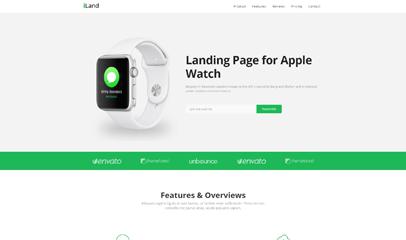 Apple Watch手表产品官网介绍响应式模板