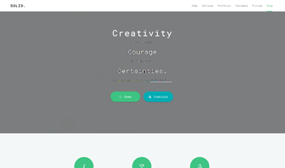清爽簡潔html5響應式產品展示官網模板