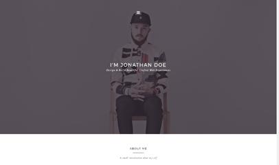 個性個人主頁設計師作品展示web簡歷模板