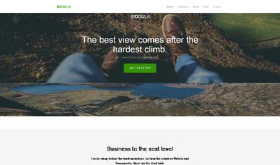 旅游公司旅游城市響應式網頁模板