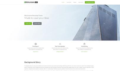 Bravana软件开发公司响应式官网整站模板