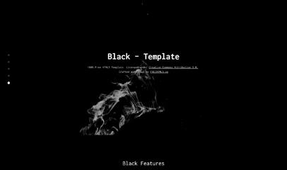 Black黑色全屏滚动单页bootstrap模板
