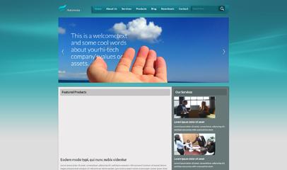 蓝绿色软件开发公司网站模板