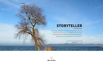 黑色素雅风格响应式网站模板