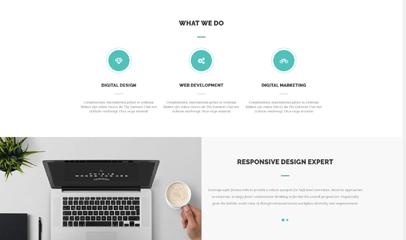 簡潔大氣網站設計企業官網模板