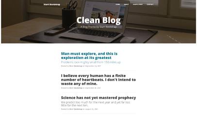 clean Blog極簡個人博客主頁模板