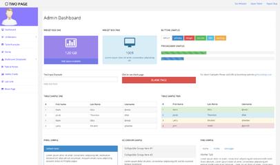 Free Bootstrap Admin后台模板