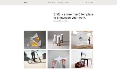 極簡風格文藝青年工業設計師企業網站模板