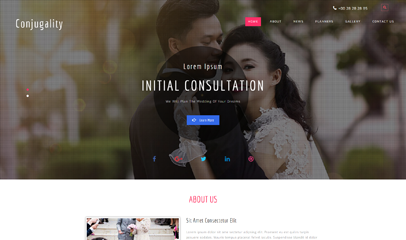 情侣婚纱摄影网站模板
