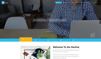宽屏大气设计网站模板